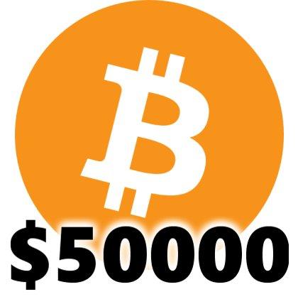 Bitcoin a depășit pentru prima oară pragul de 50.000 de dolari